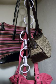 Organize Accessories with Shower Curtain Rings