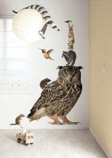 Muursticker Forest friends set XL Owl uil