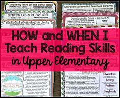 A sequence of when I teach all of my reading skills throughout the year and the activities I do, too!