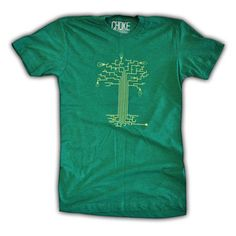 Circuitree Tee Men's Green, now featured on Fab.