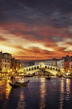 Ponte Rialto and gondola at sunset in Venice, Italy. Love Venice but haven't been back in so many years. - Ponte Rialto and gondola at sunset in Venice, Italy. Love Venice but haven't been back in so many years. Places Around The World, Travel Around The World, Around The Worlds, Dream Vacations, Vacation Spots, Italy Vacation, Vacation Destinations, Places To Travel, Places To See