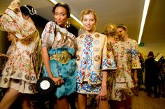 Backstage — Dolce & Gabbana Spring 2014 — Photographed by Kevin Tachman
