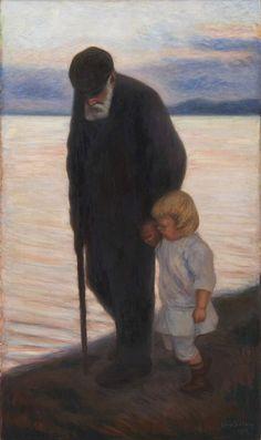 Hugo Simberg: Towards the Evening, Ateneum Art Museum. Art Gallery, Art Painting, Art Museum, Lovers Art, Figure Painting, Painting Illustration, Painting, Art Pictures, Scandinavian Art