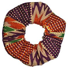 African Print Scrunchies Purple Orange -- Check out this great product.(This is an Amazon affiliate link and I receive a commission for the sales)