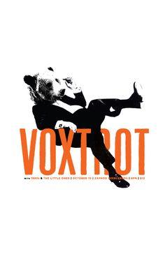 Voxtrot concert poster.