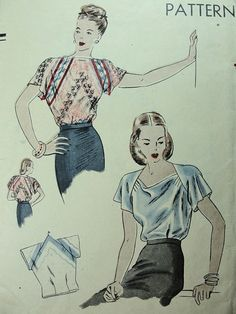 Vogue 5524 blouse that can be made from a 36-inch square scarf