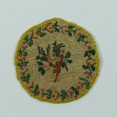 Antique Georgian Pocket Watch Sampler Silk Embroidered Love Token 1810 Era