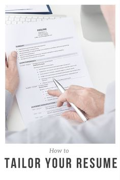 how to tailor your resume to any job posting - No Work Experience Resume Template