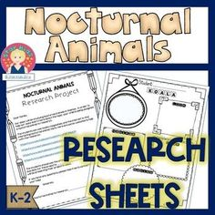 Nocturnal Animal Research Sheets