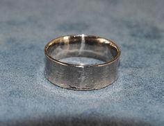 18K Palladium White Gold Comfort Fit Wide Band - riccoartjewelry.com  - 1