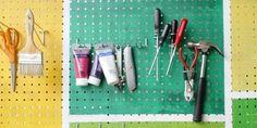 Painted Pegboard Garage Organizer | Renos & DIY | HGTV Canada