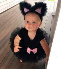 Halloween Delivery Guaranteed Black Cat Costume with bow Baby Cat Costume, Baby Girl Halloween Costumes, Cat Costumes, Halloween Outfits, Toddler Girl Halloween, Baby First Halloween, Cute Costumes For Kids, Kids Costumes Girls, Halloween Disfraces