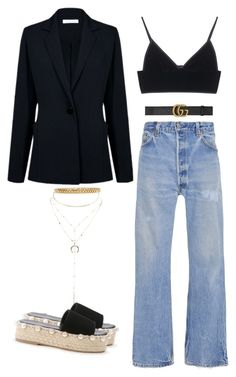 """""""Casual night out"""" by happysamson on Polyvore featuring Atea Oceanie, Rosetta Getty, T By Alexander Wang, Gucci, AMBUSH and Charlotte Russe"""