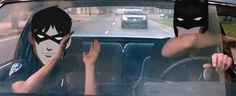 Meanwhile in the bat-mobile.... - young-justice Photo (funny gif)