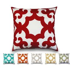'Bukura' Two-tone Embroidered Throw Pillow. Click through to see all the color options!