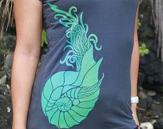 Hawaii Golden Ratio Nautilus Ammonite shirt by AkuaCreative