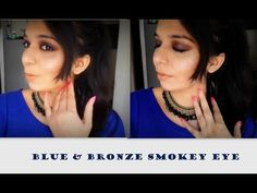 Get This Blue and Bronze Makeup Look