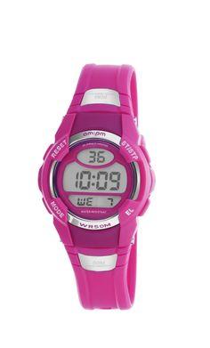 AM PM PC173-U425 Kids Pink Digital Sports Watch Multifunction Stopwatch  With Alarm 96028567622
