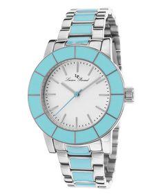 Loving this Stainless Steel & Turquoise Burgos Bracelet Watch on #zulily! #zulilyfinds