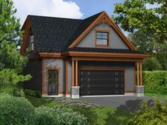 Carriage House Plans | Craftsman-Style Carriage House Plan with 2 ...