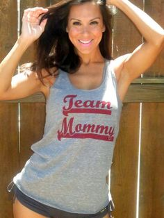 TEAM MOMMY EcoHeather Flowy Racerback Tank by FiredaughterClothing, $30.00