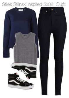 """Stiles Stilinski Inspired 5x08  Outfit"" by staystronng ❤ liked on Polyvore featuring Rodarte, Valentino, Vans, MANGO, StilesStilinski, alternative, tw and tw5x08"