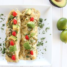 Chicken Enchiladas with Creamy Avocado Sriracha Sauce Click For #cooking #recipes !