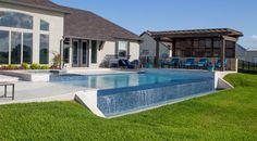 Infinity Pools, Infinity Pool Backyard, Infinity Edge Pool, Backyard Pool Designs, Natural Swimming Pools, Swimming Pools Backyard, Swimming Pool Designs, Pool Landscaping, Lap Pools