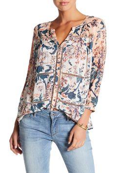 42564950c0a49 Lucky Brand Mix Floral Print Shirt