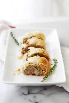 Turkey Meatloaf Wellington - Delicious and extremely flavorful Turkey Meatloaf wrapped in flaky phyllo dough sheets.