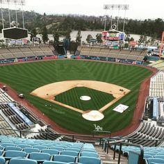 THINK BLUE: First trip to a baseball stadium #dodgers #la #baseball by scottwdoran