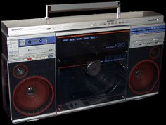 Sharp VZ-2500 (VZ-V20). This b**** even had a turntable in it!  What's your iPod got on this badboy?