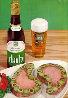Nothing goes better with a glass of dab than ham and olive paisleys!
