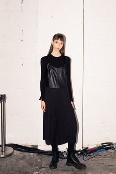 318028e4128 How To Get Proenza Schouler s Fall 2017 Beauty Look  On an early Monday  morning backstage