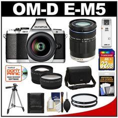 Olympus OM-D E-M5 Micro 4/3 Digital Camera & 12-50mm Lens (Silver/Black) with M.Zuiko 40-150mm Lens + 32GB Card + Case + Filters + Tripod + Telephoto & Wide-Angle Lens Kit by Olympus. $1329.95. Kit includes:♦ 1) Olympus OM-D E-M5 Micro 4/3 Digital Camera & 12-50mm Lens (Silver/Black)♦ 2) Olympus M.Zuiko 40-150mm ED Digital Zoom Lens (Black)♦ 3) Olympus Camera Messenger Case♦ 4) Transcend 32GB SecureDigital Class 10 (SDHC) Card♦ 5) Vivitar 52mm UV Glass Filter♦ 6) Vivi...