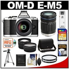Olympus OM-D E-M5 Micro 4/3 Digital Camera & 12-50mm Lens (Silver/Black) with M.Zuiko 40-150mm Lens + 32GB Card + Case + Filters + Tripod + Telephoto & Wide-Angle Lens Kit by Olympus. $1329.95. Kit includes:♦ 1) Olympus OM-D E-M5 Micro 4/3 Digital Camera & 12-50mm Lens (Silver/Black)♦ 2) Olympus M.Zuiko 40-150mm ED Digital Zoom Lens (Black)♦ 3) Olympus Camera Messenger Case♦ 4) Transcend 32GB SecureDigital Class 10 (SDHC) Card♦ 5) Vivitar 52mm UV Glass Filter♦ 6) Vivi...