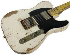 Nash T-52 Guitar, Mary Kaye White, Neck Humbucker, Heavy Relic
