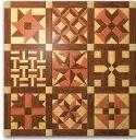 Geo Shape Wood Quilt Design #2