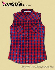 Lasted Fashion leisure women-blouse Throughout quality and experienced QC system size: WX13-L3504   Material: cotton or customised Color: Red Colour or as per customer's request Pattern: Without sleeves Sample lead-time: 5-7 days