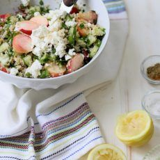 Red Grape and White Peach Tabbouleh Salad | Joy the Baker