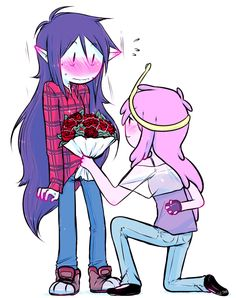 Bonnie proposing to Marceline Adventure Time Marceline, Adventure Time Anime, Life Is Strange, Yuri Manga, Oblyvian Girls, Princesse Chewing-gum, Adveture Time, Marceline And Princess Bubblegum, Land Of Ooo