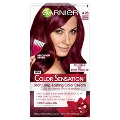 Garnier Hair Color Sensation Rich Long-Lasting Color Cream, Deep Burgundy -- To view further for this item, visit the image link. (This is an affiliate link) Rich Hair Color, Hair Color Cream, Hair Color Shades, Hair Color Blue, New Hair Colors, Cool Hair Color, Brown Hair Colors, Pelo Color Vino, Garnier Color Sensation