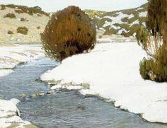 River in Winter - Victor Higgins - The Athenaeum