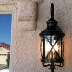 Our new porch light from Lowe's