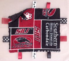 "SIU Go Dawgs ""Good Night Sleep Tight"" security blanket Good Night Sleep Tight, Baby Security Blanket, Board, Products, Sign, Beauty Products, Planks"
