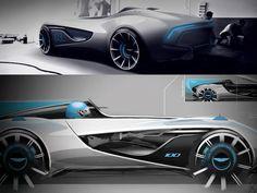 Aston Martin CC100 Speedster Concept design sketches