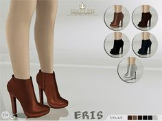 Madlen Eris Boots New ankle boots fro your sim! Come in 6 colors (leather texture). Mesh is completely new, made by myself and low poly. Joints are perfectly assigned. All LODs are replaced with new...