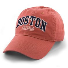 """Boston Arch """"Pastime"""" Adjustable Hat - Cape Cod Red"""