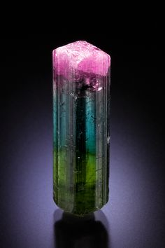 Elbaite .. this particular one looks like a rainbow of neon <3
