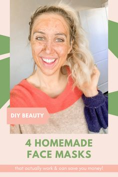 Who doesn't love DIY beauty? I did the hard work for you and tried several DIY homemade face mask recipes to share the ones that actually work for your skin! #skincaretips #facemasks #diybeauty #beautytips #naturalbeauty